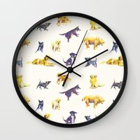 puppies Wall Clocks featuring Puppies! by ascaliers