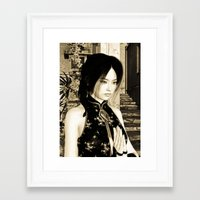asian Framed Art Prints featuring Asian Beauty by Design Windmill