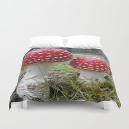 The Two in Red. Duvet Cover