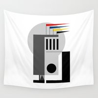 bauhaus Wall Tapestries featuring BAUHAUS DREAMING by THE USUAL DESIGNERS