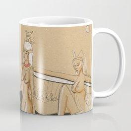 Egyptian Goddesses - Sekhet, Nebthet, and Aset Coffee Mug