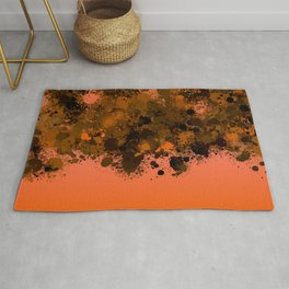 paint splatter on gradient pattern or Rug