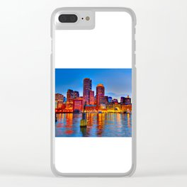 Boston Harbor Clear iPhone Case