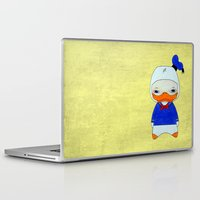 donald duck Laptop & iPad Skins featuring A Boy - Donald Duck by Christophe Chiozzi