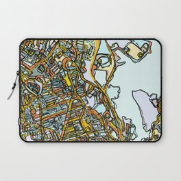 Abstract Map- Dorchester MA Laptop Sleeve