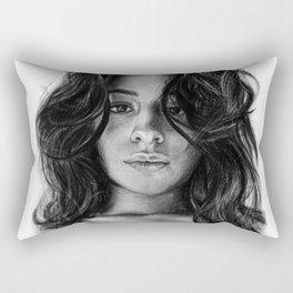 Camila Cabello Drawing Rectangular Pillow