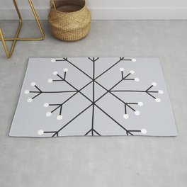 Mod Snowflake Frost Rug