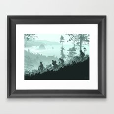 Never Say Die Framed Art Print
