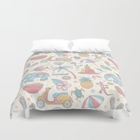 thailand Duvet Covers featuring Dream of Thailand by Olcha Guu