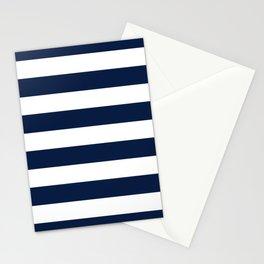 Marinière Nautical Navy Blue and White Mariniere Stripes  Stationery Cards