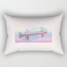 Colourful Canoeing Rectangular Pillow