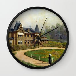 Country House 1892 By Lev Lagorio | Reproduction | Russian Romanticism Painter Wall Clock