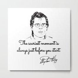 Stephen King quotes Metal Print