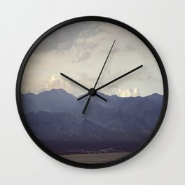 Mesquite Mountains Wall Clock