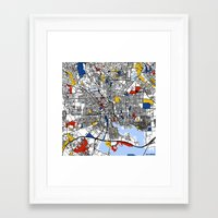 baltimore Framed Art Prints featuring Baltimore  by Mondrian Maps