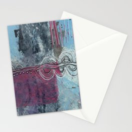 Twists and Turns Abstract Stationery Cards