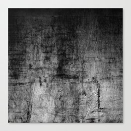 Silver Textured Concrete Pattern Canvas Print