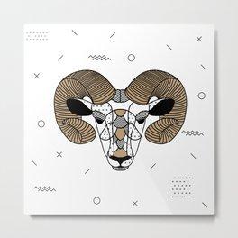 Ram Chocolat Metal Print