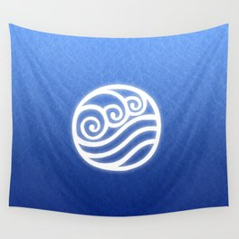 Avatar Water Bending Element Symbol Wall Tapestry