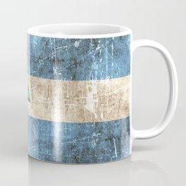 Vintage Aged and Scratched Nicaraguan Flag Coffee Mug