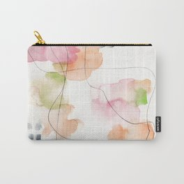 180805 Subtle Confidence 7| Colorful Abstract |Modern Watercolor Art Carry-All Pouch