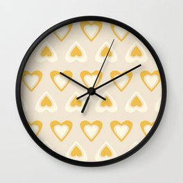 Love in Spring Time - Lemon Yellow Wall Clock