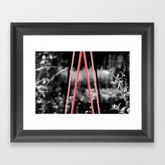 garden stripes Framed Art Print