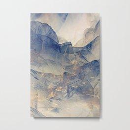 Tulle Mountains Metal Print