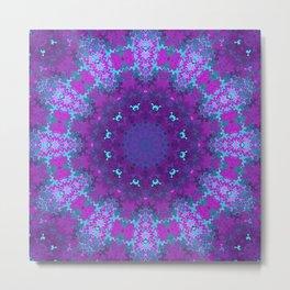 Pink, Purple, and Blue Kaleidoscope Metal Print