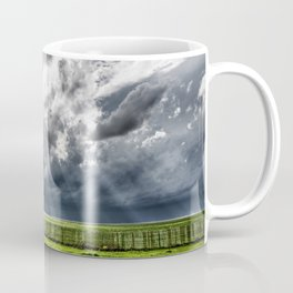 Beams - Sunbeams Illuminate Colorado Landscape On Stormy Day Coffee Mug
