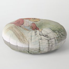 Jeremy Fisher by Beatrix Potter Floor Pillow