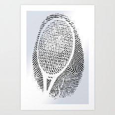 Fingerprint of a player Art Print