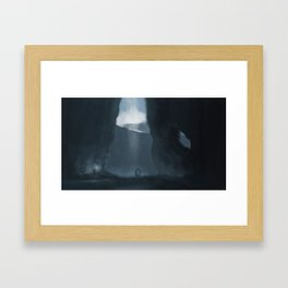 Blue Cave Framed Art Print