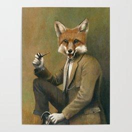 Vintage Fox In Suit Poster