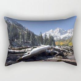 Maroon Bells Outside Aspen, Colorado Rectangular Pillow