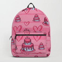 Cute Pink Cake Pattern Backpack