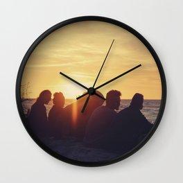 Sunset at the Baltic Sea Wall Clock
