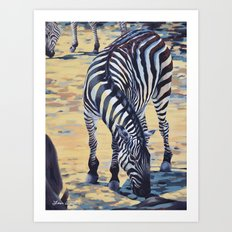 Plains Zebra Art Print