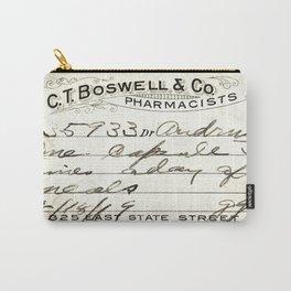 Vintage Prescription Label Carry-All Pouch
