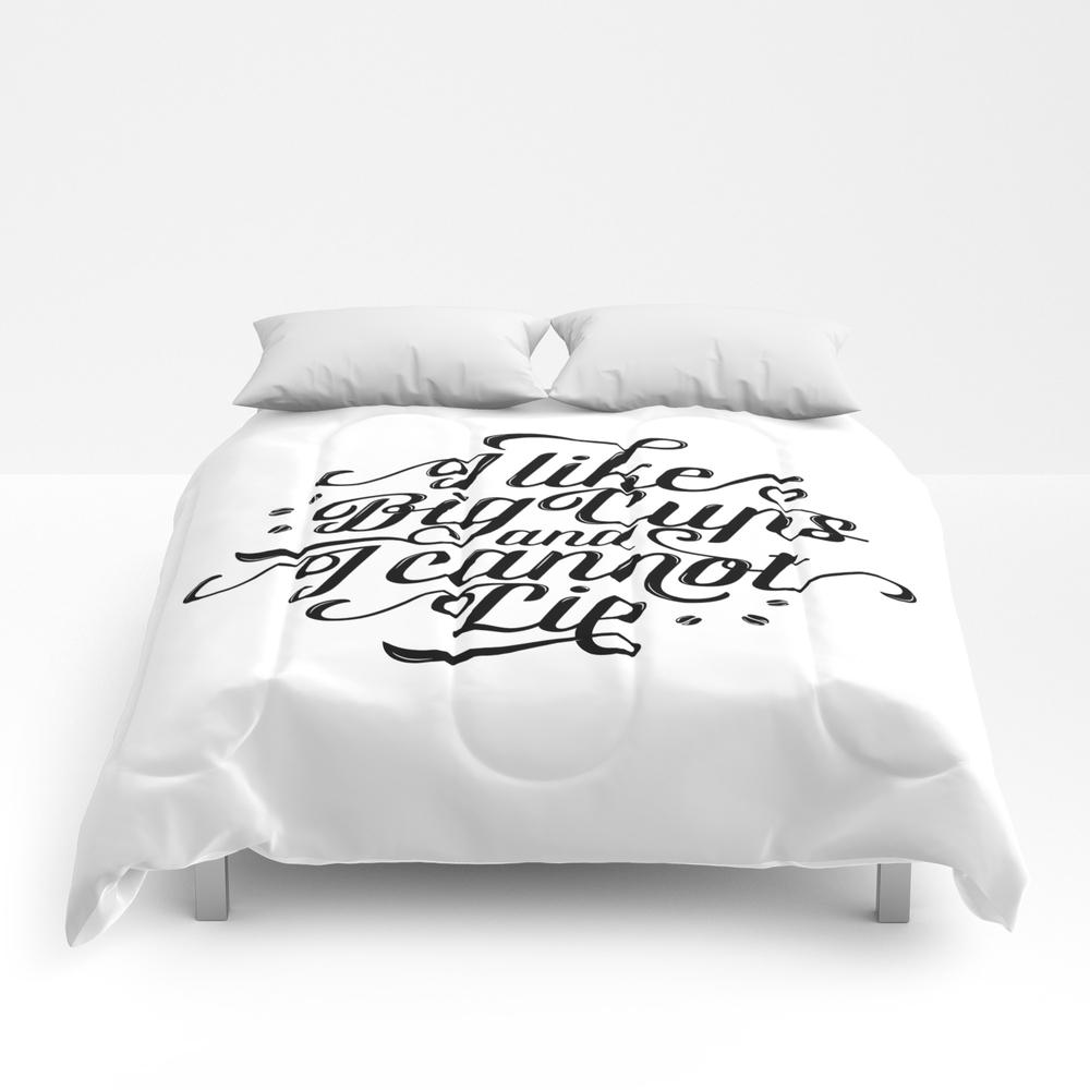 I Like Big Cups And I Cannot Lie Comforter by Tunacancreative CMF7410769