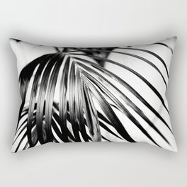 Black & White Palm Leaf #2 #decor #art #society6 Rectangular Pillow