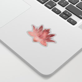 Pink Lotus Flower | Watercolor Texture Sticker