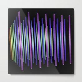 Abstract - Rainbow Color Bars Pattern Metal Print