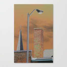 Solarized images of North Adams and Berkshire County Canvas Print