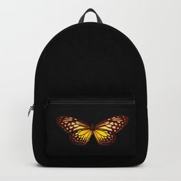 Butterfly - Yellow Brown & Black - Back Lit Glow Backpack