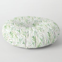 herbal pattern Floor Pillow