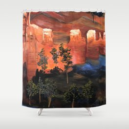 Hike in the park Shower Curtain