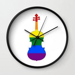 Rainbow Viola Wall Clock