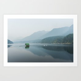 House on The Water Art Print
