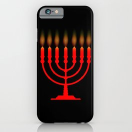 Menorh With Seven Candles iPhone Case